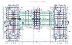 Раздел КМ План стропильных балок